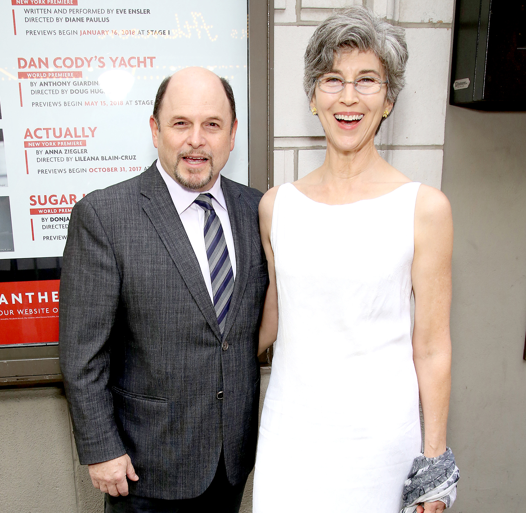 Jason Alexander and Daena E. Title attend the Broadway Opening Night performance of 'The Prince of Broadway' at the Samuel J. Friedman Theatre on August 24, 2017 in New York City.