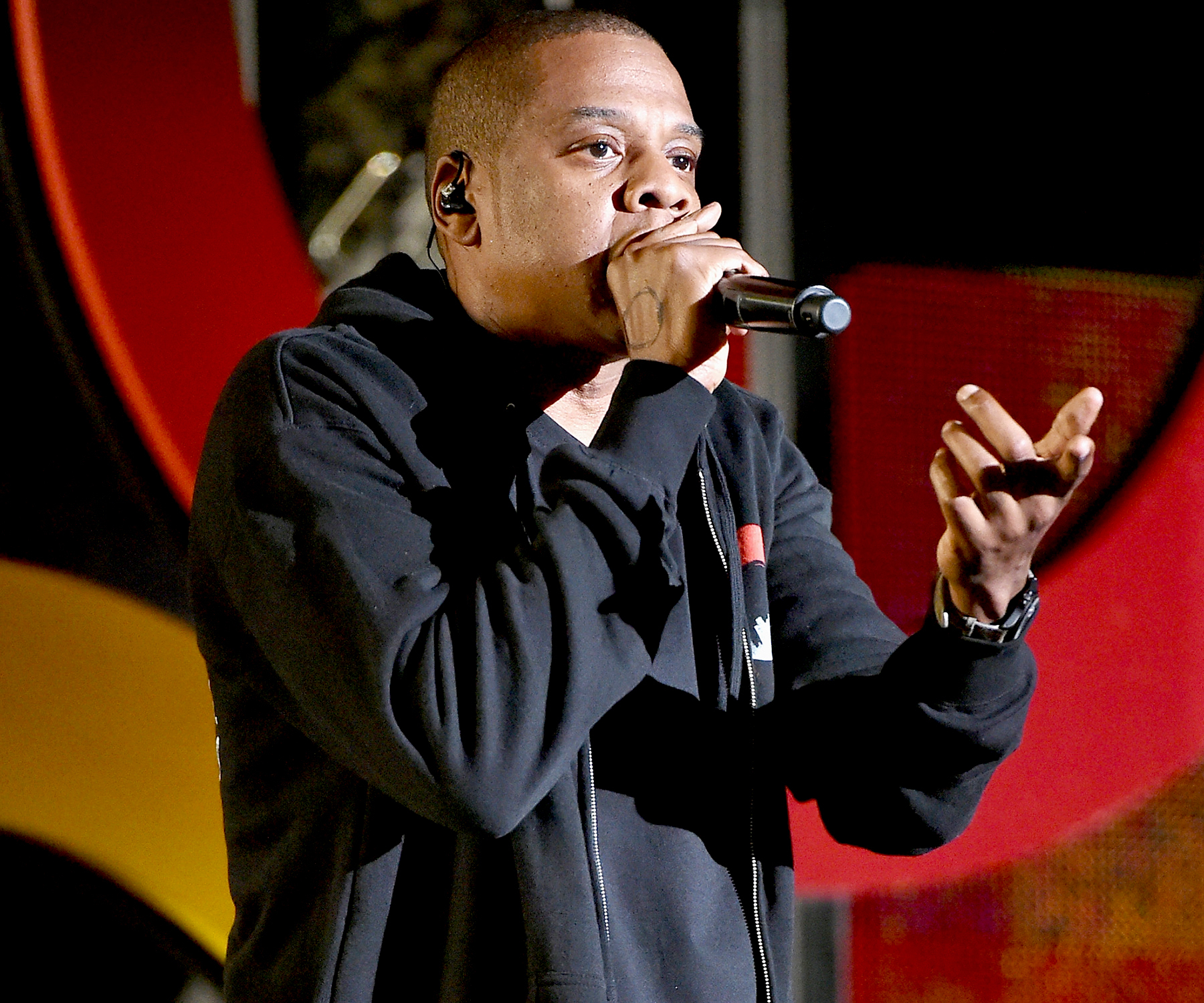 Jay Z performs onstage at the 2014 Global Citizen Festival to end extreme poverty by 2030 in Central Park on September 27, 2014 in New York City.