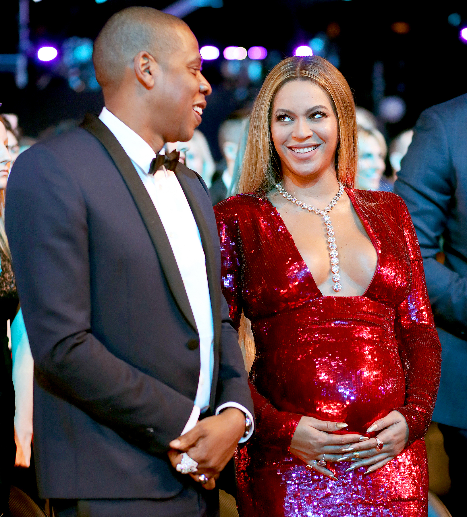 Jay-Z and singer Beyonce during The 59th GRAMMY Awards at STAPLES Center on February 12, 2017 in Los Angeles, California.