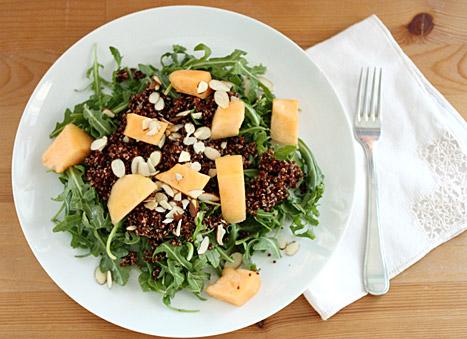 quinoa, almond and arugula salad