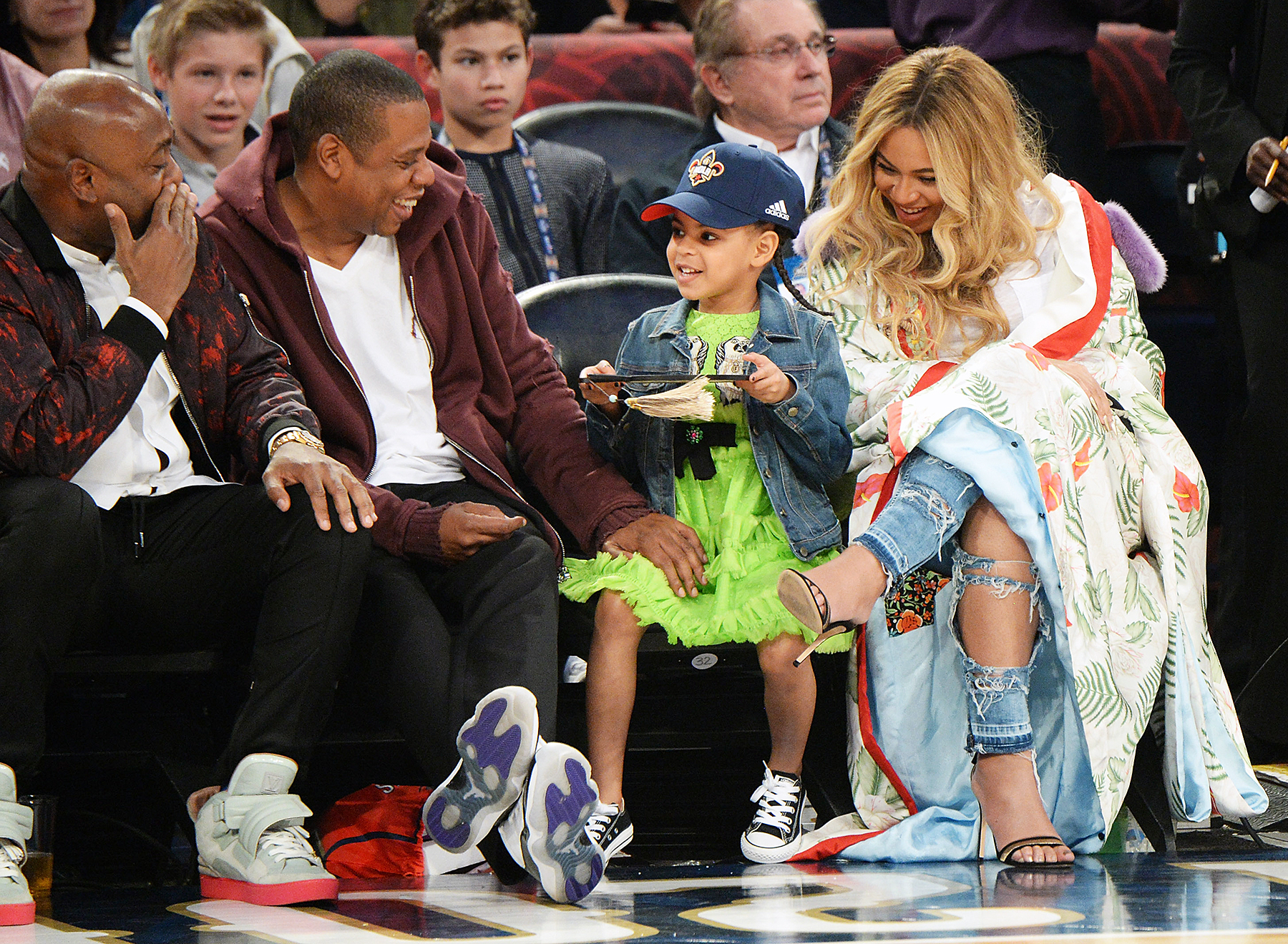 Blue Ivy Sits Courtside With Beyonce, Jay Z at NBA All ...