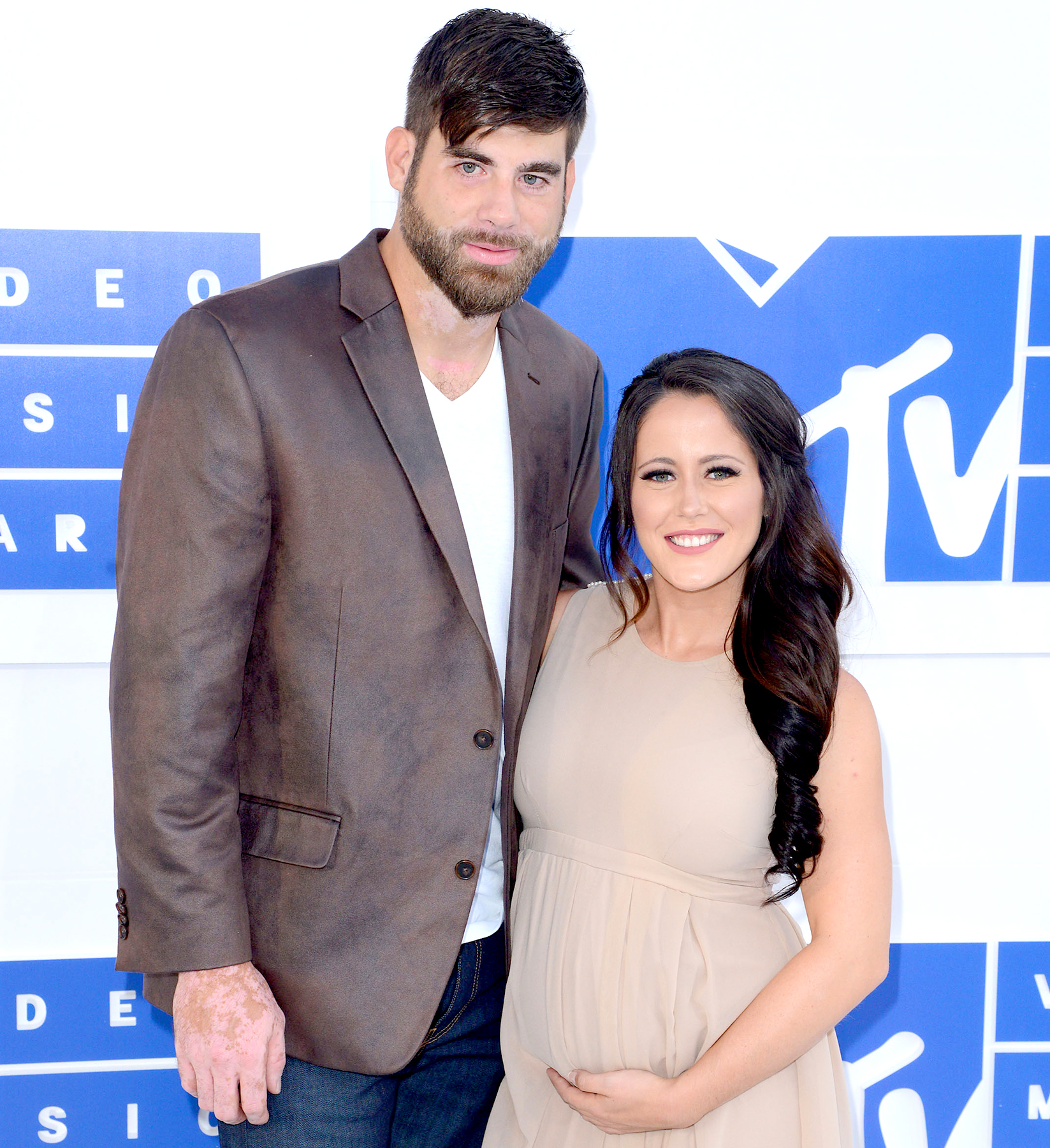 David Eason and Jenelle Evans arrive at the 2016 MTV Video Music Awards.