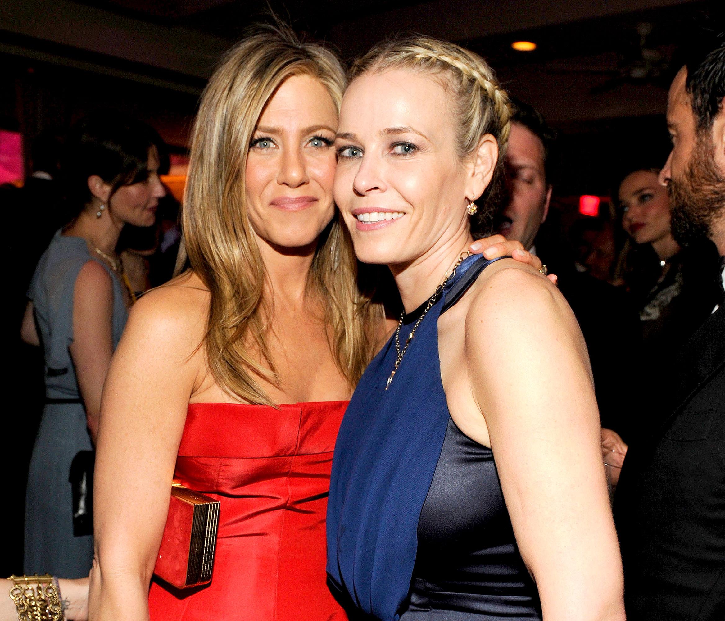 Jennifer Aniston and Chelsea Handler