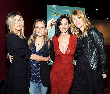 Jennifer Aniston, Jennifer Meyer, Courteney Arquette and Laura Dern