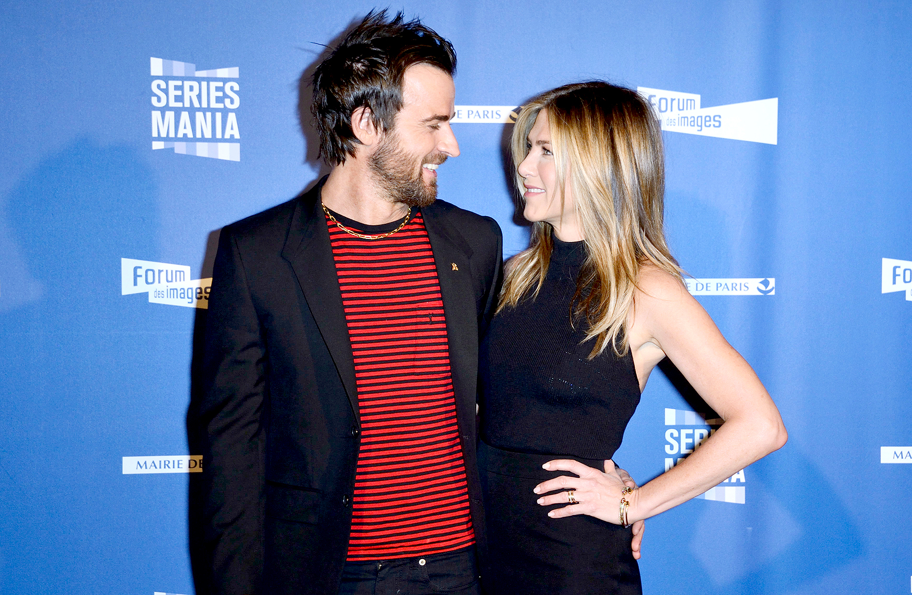 Justin Theroux and Jennifer Aniston at the Opening of Series Mania Festival 2017 in Paris, France on April 13, 2017.