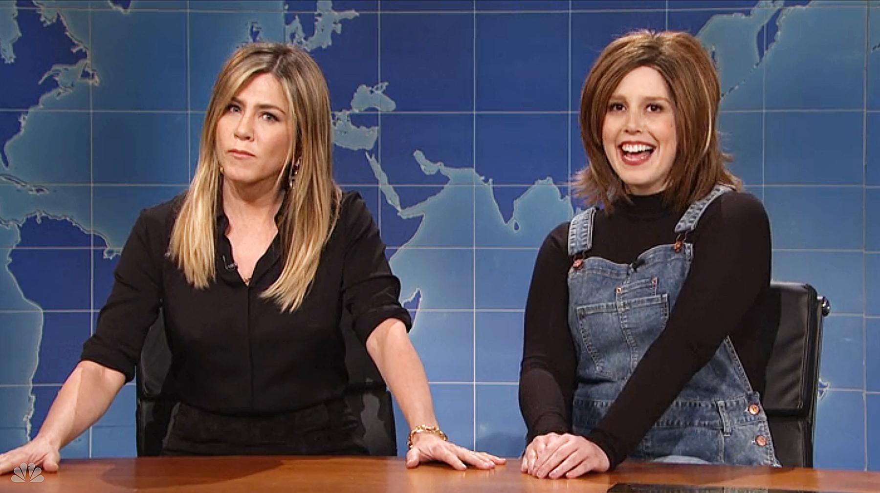 Jennifer Aniston Vanessa Bayer Saturday Night Live SNL Friends