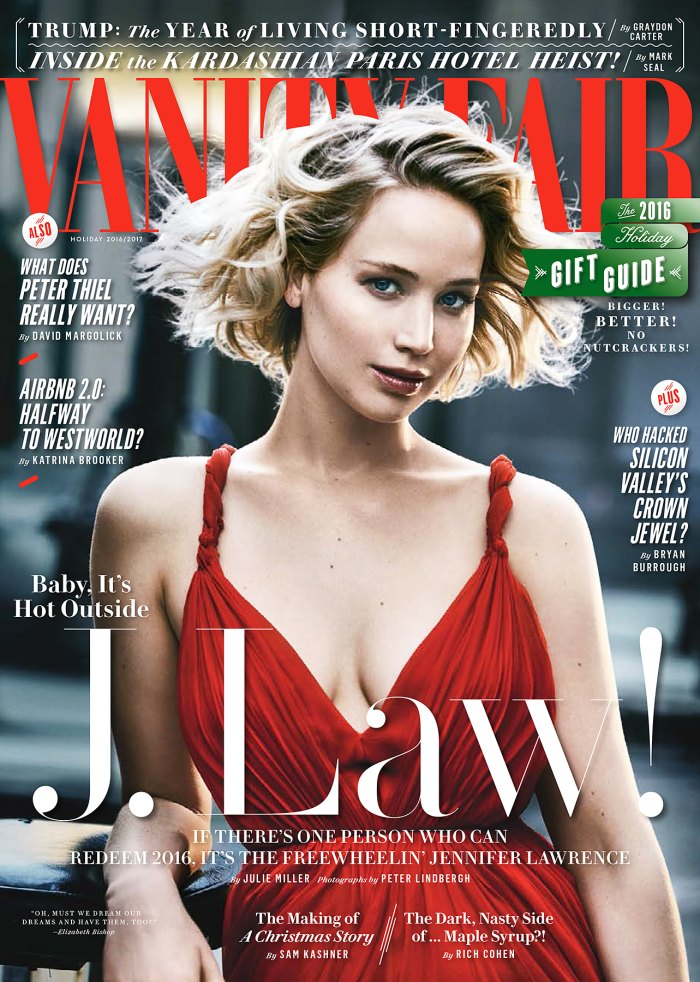 Jennifer Lawrence on the cover of 'Vanity Fair.'