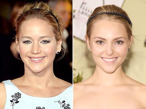 Jennifer Lawrence and Annasophia Robb - Headbands