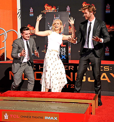 Hunger Games - hand and footprint ceremony