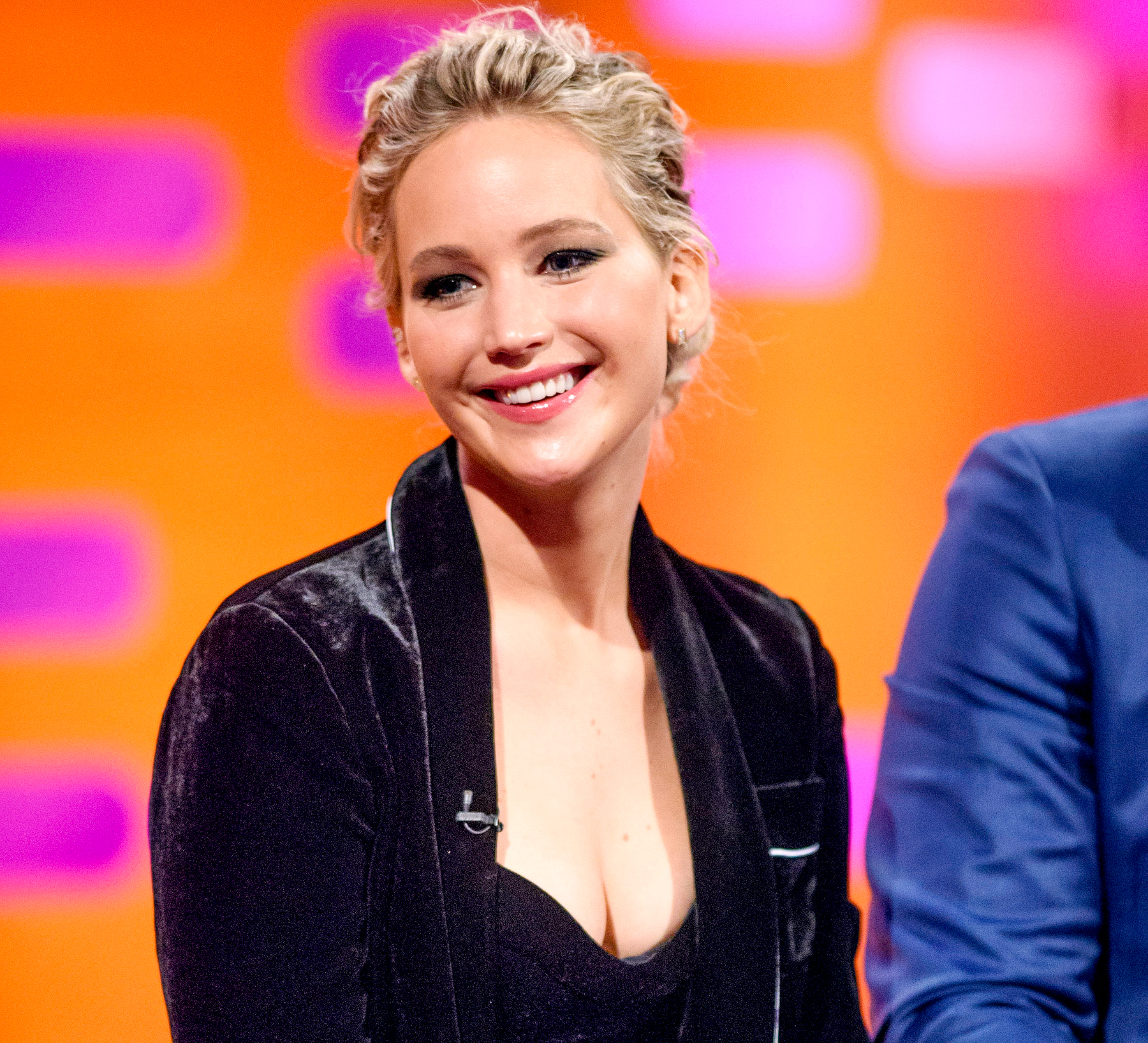Jennifer Lawrence on the Graham Norton Show at The London Studios in December 2016.