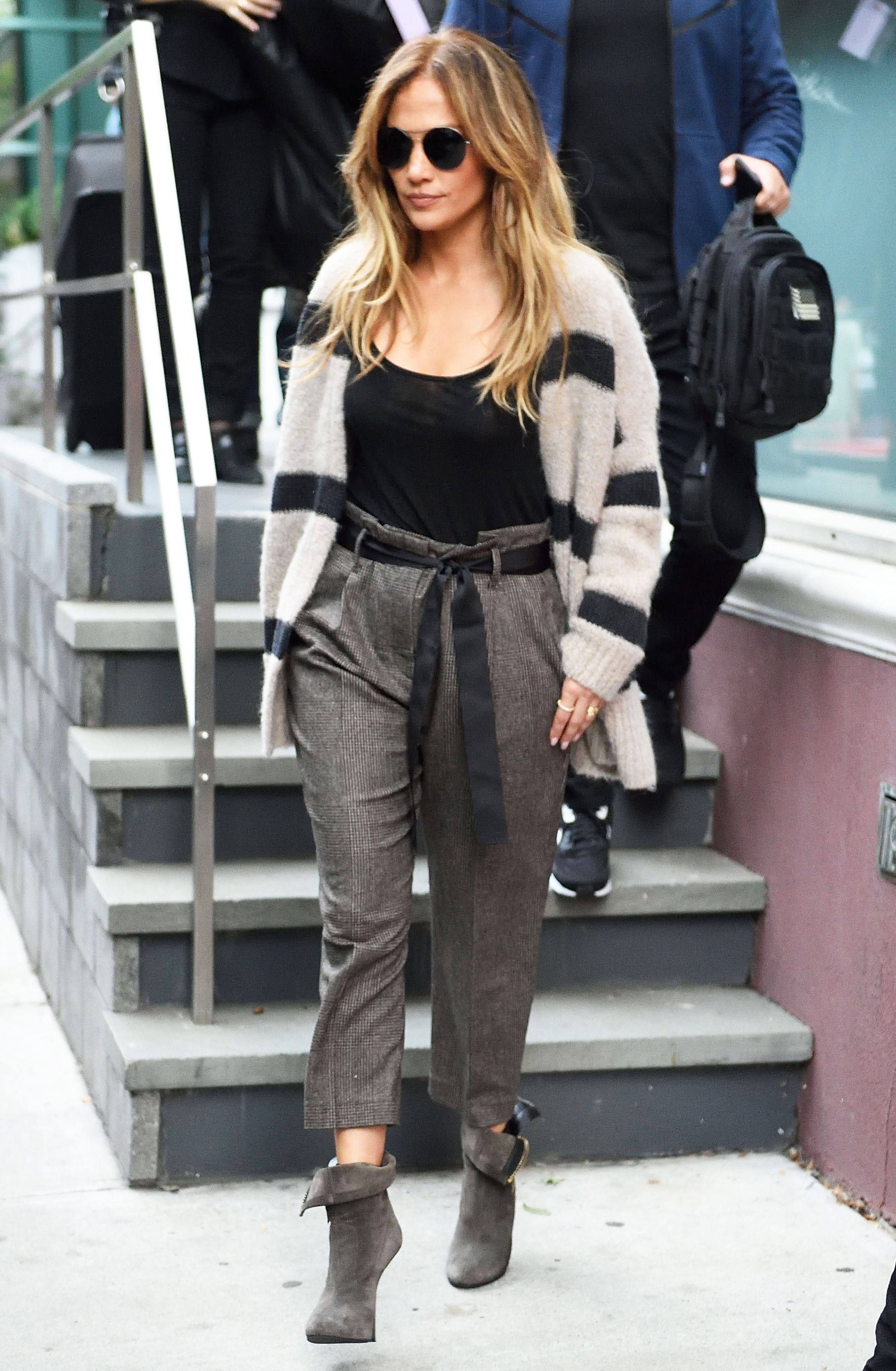 Jennifer Lopez More Wear Paper Bag Pants Street Style Pics
