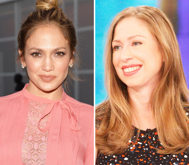 Jennifer Lopez and Chelsea Clinton