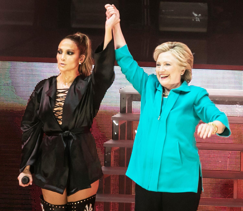 Jennifer Lopez and Hillary Clinton