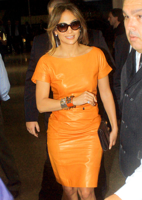 jennifer lopez orange neon