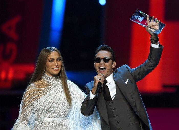 Jennifer Lopez and Marc Anthony at the Latin Grammy Awards 2016
