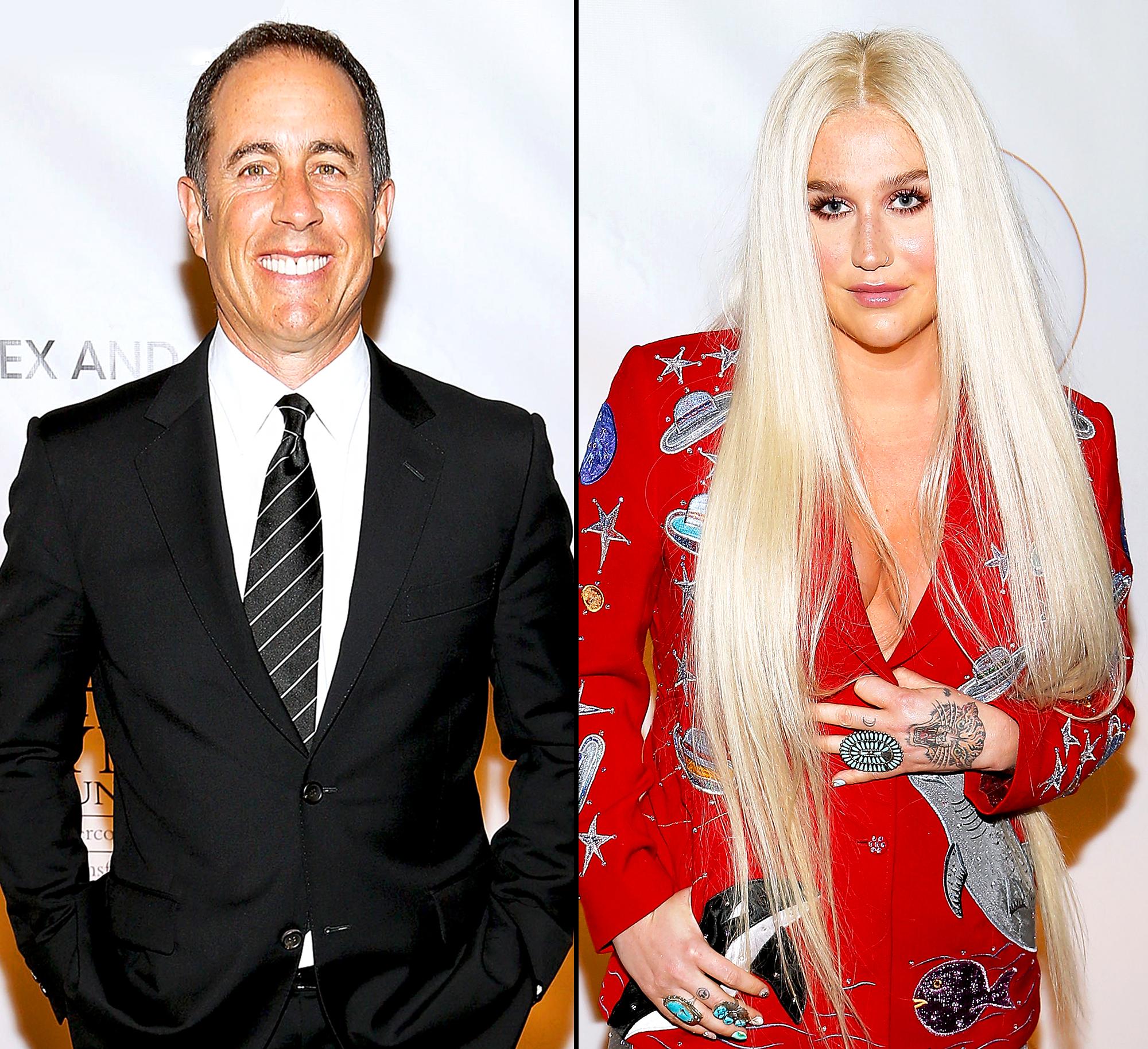 Jerry Seinfeld and Kesha
