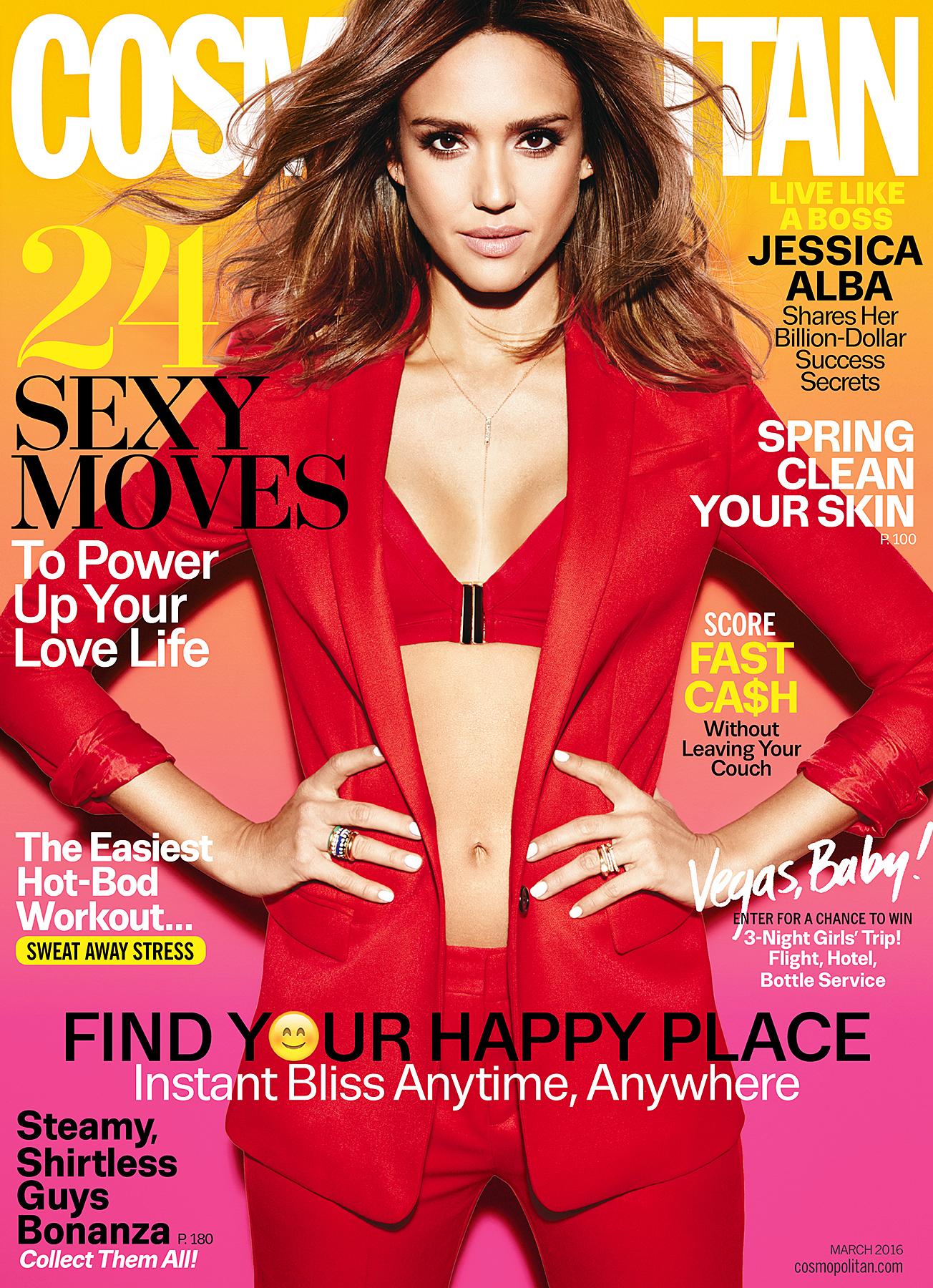Jessica Alba on the cover of 'Cosmopolitan'