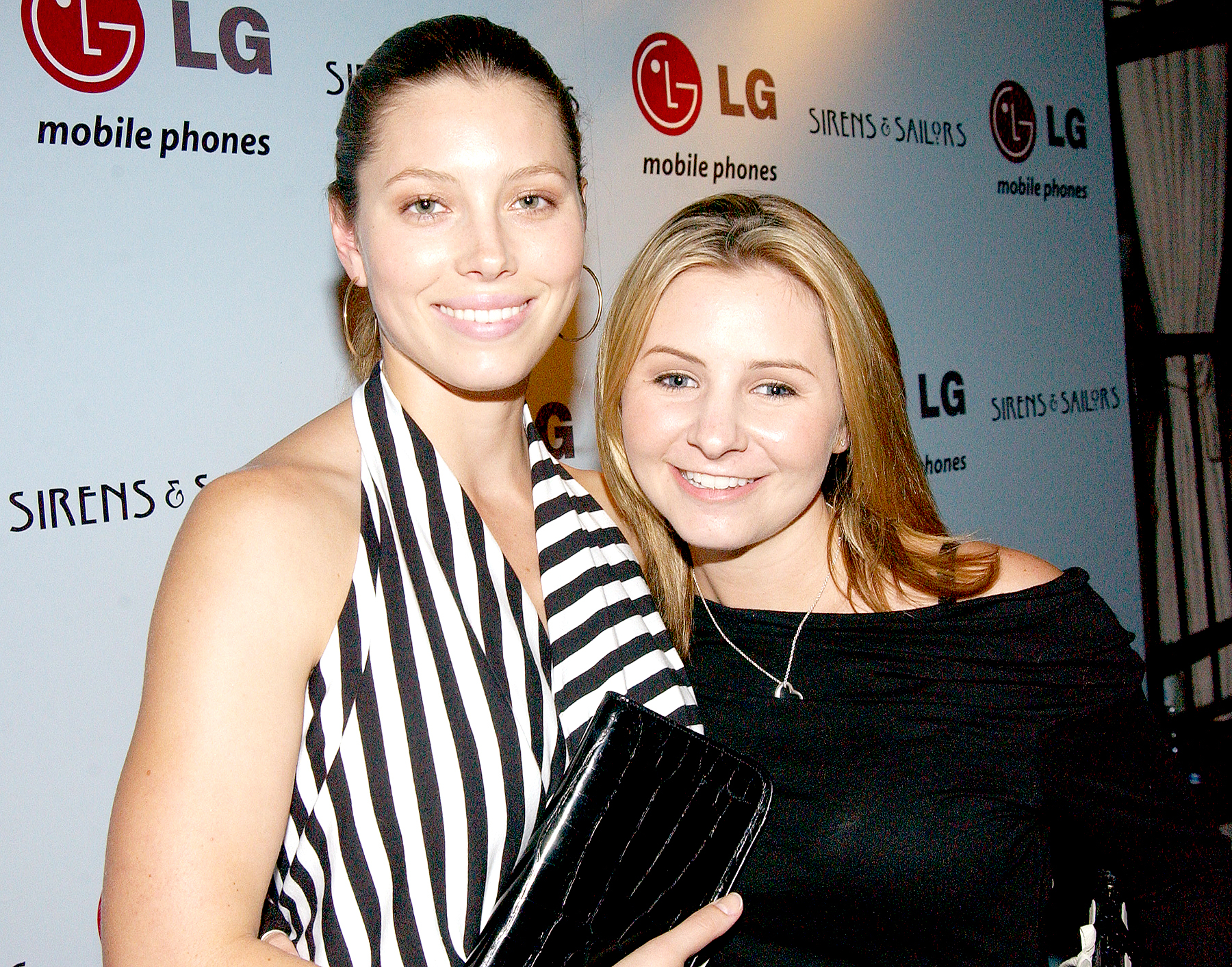 Jessica Biel and Beverley Mitchell helped LG Mobile Phones celebrate Sirens & Sailors fashion show and cocktail reception in 2003.