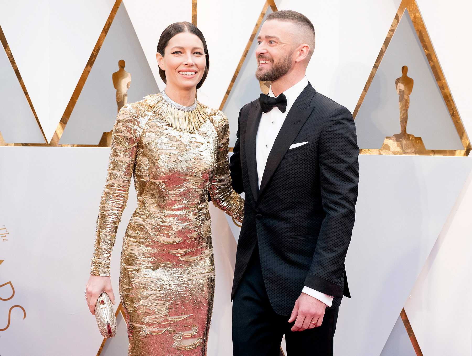 Jessica Biel and Justin Timberlake at The 89th Oscars.