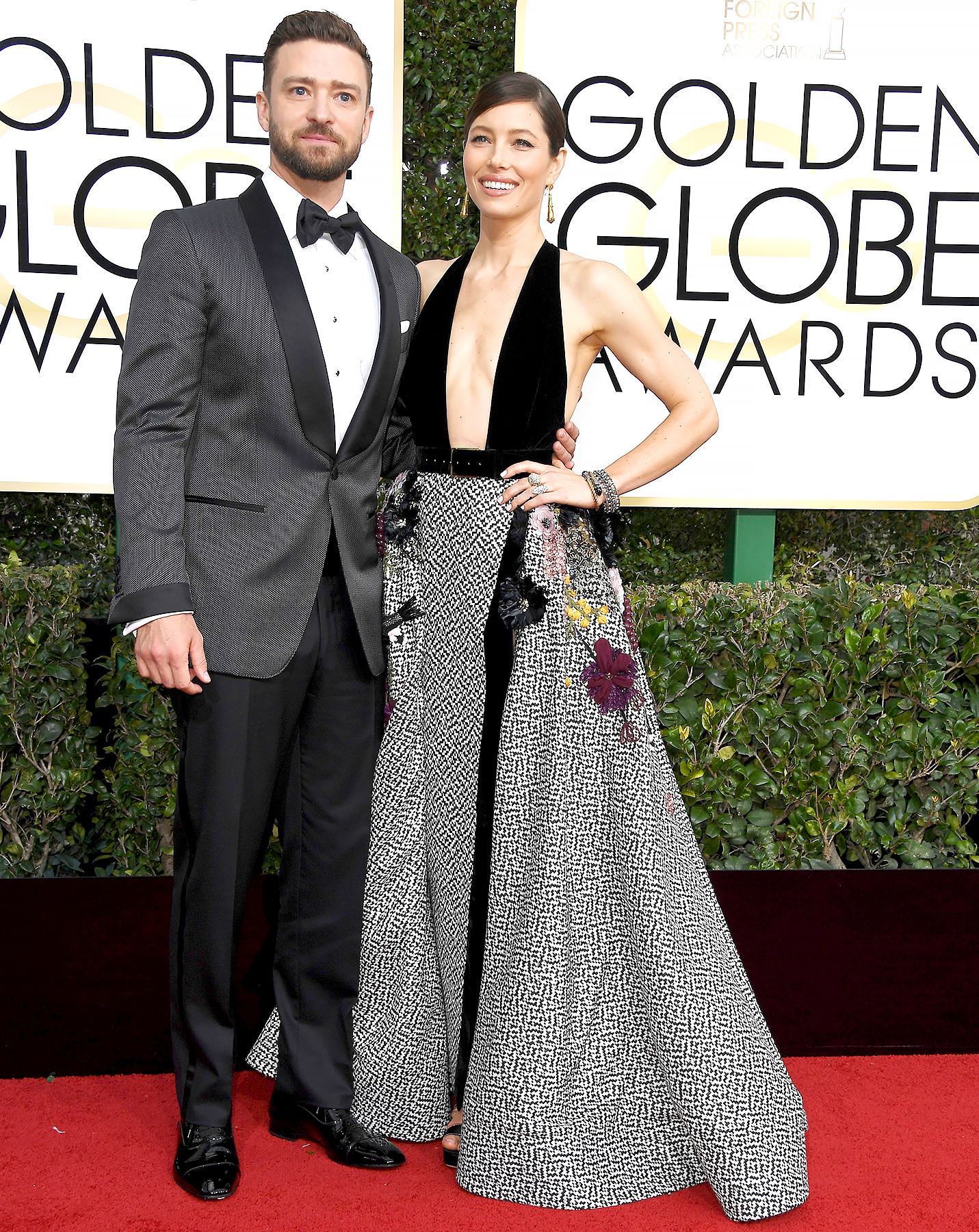 Justin Timberlake and Jessica Biel attend the 74th Annual Golden Globe Awards at the Beverly Hilton Hotel on Jan. 8, 2017, in Beverly Hills.