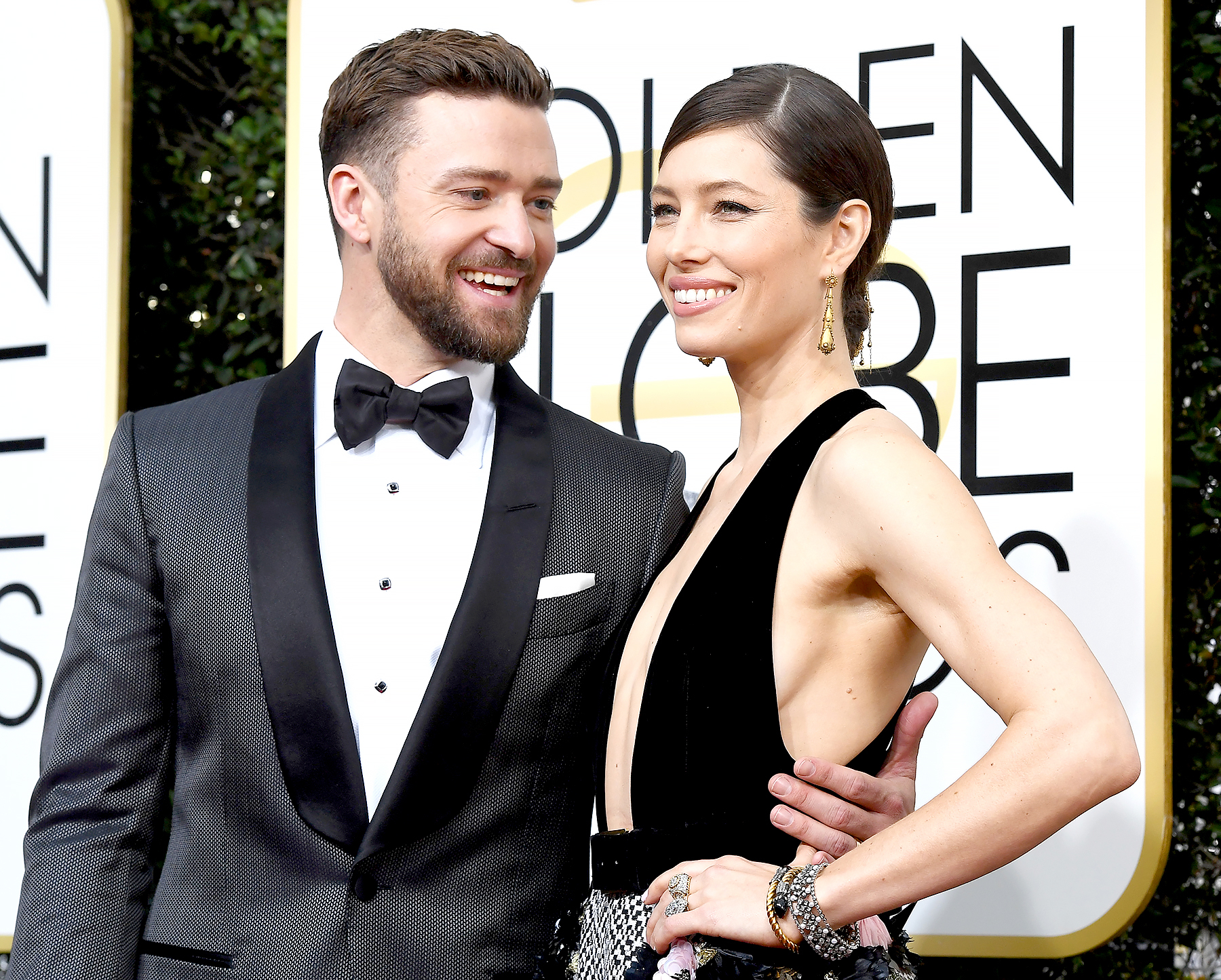 Justin Timberlake and Jessica Biel arrive at the 74th Annual Golden Globe Awards held at the Beverly Hilton Hotel on Jan. 8, 2017.