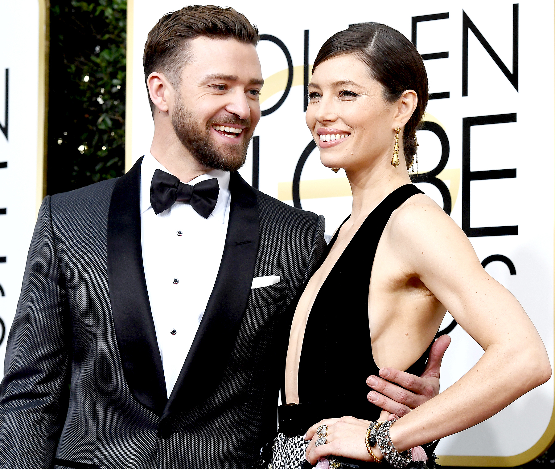 Justin Timberlake and Jessica Biel arrive to the 74th Annual Golden Globe Awards held at the Beverly Hilton Hotel on January 8, 2017.