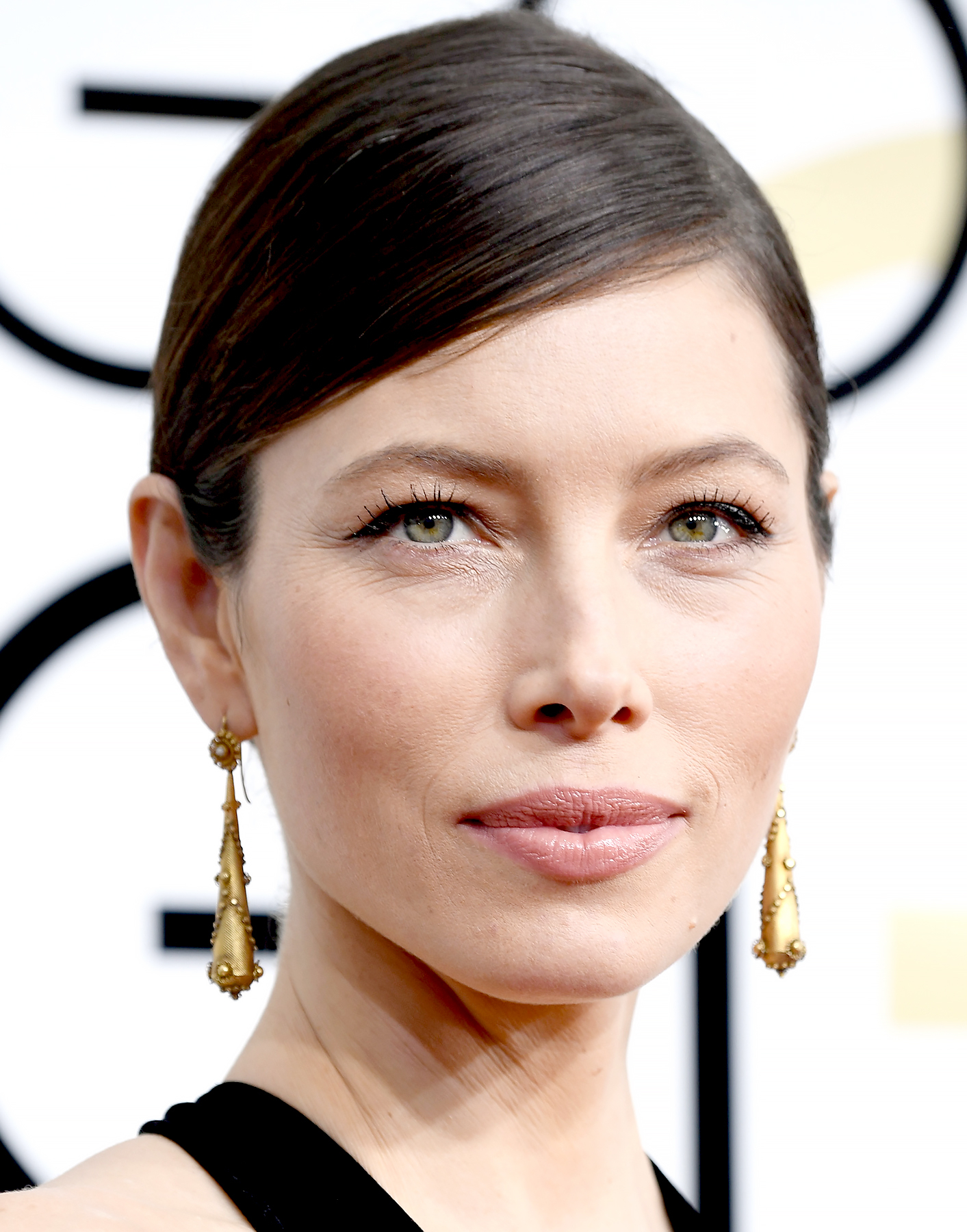 Jessica Biel attends the 74th Annual Golden Globe Awards.