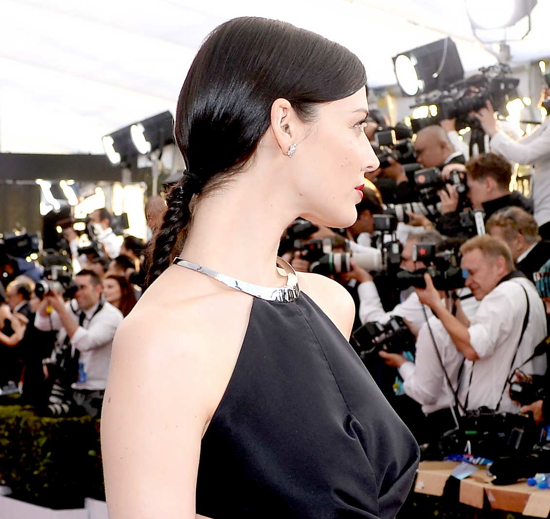 Jessica Pare attends The 22nd Annual Screen Actors Guild Awards.