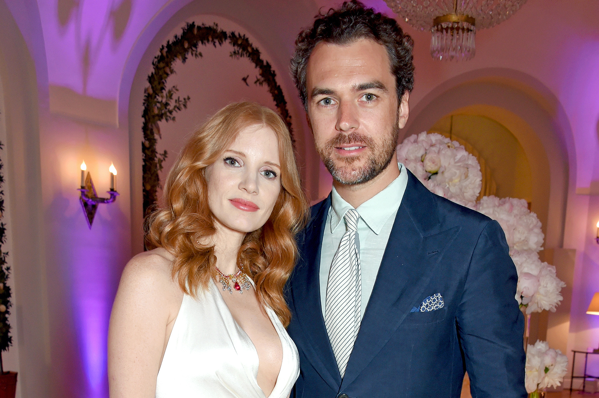 Jessica Chastain and Gian Luca Passi