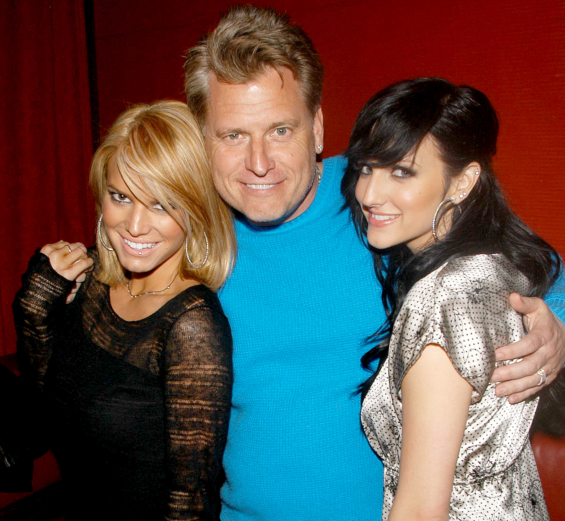 Jessica Simpson, Joe Simpson and Ashlee Simpson attend Guess Who Screening Party at Marquee on March 16, 2005 in New York City.