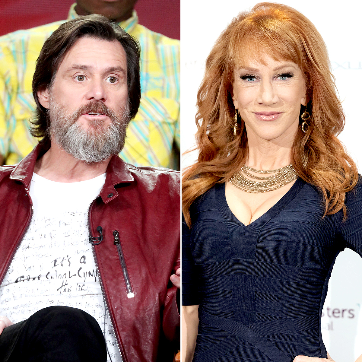 Jim Carrey and Kathy Griffin