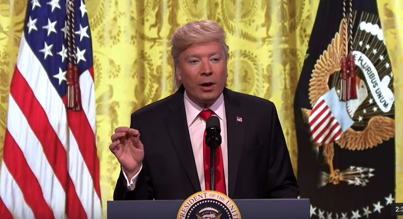 Jimmy Fallon Spoofs Donald Trump Press Conference