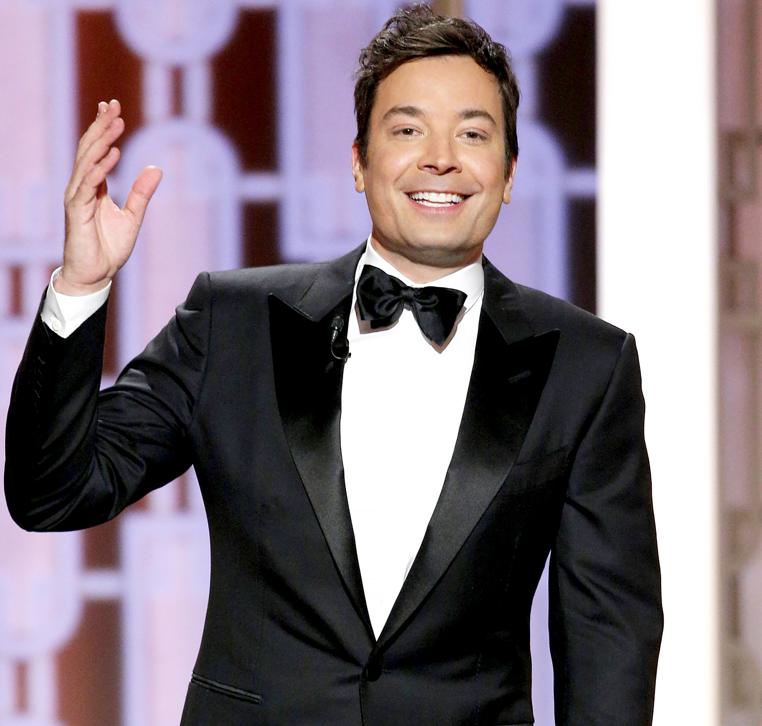 Jimmy Fallon onstage during the 74th Annual Golden Globe Awards.