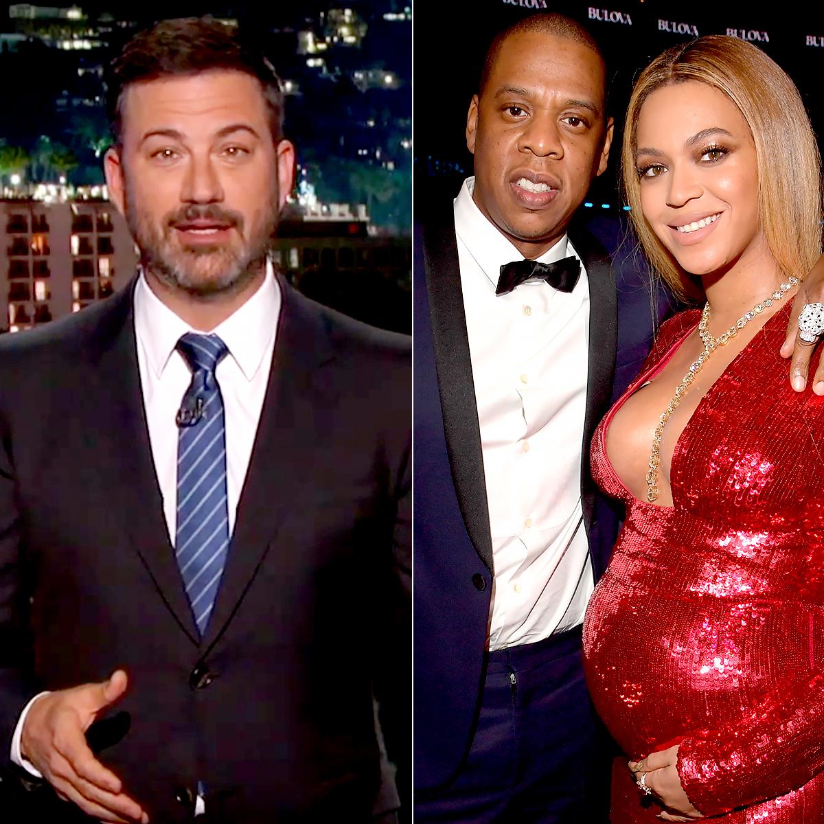 Jimmy Kimmel, Jay-Z, and Beyonce