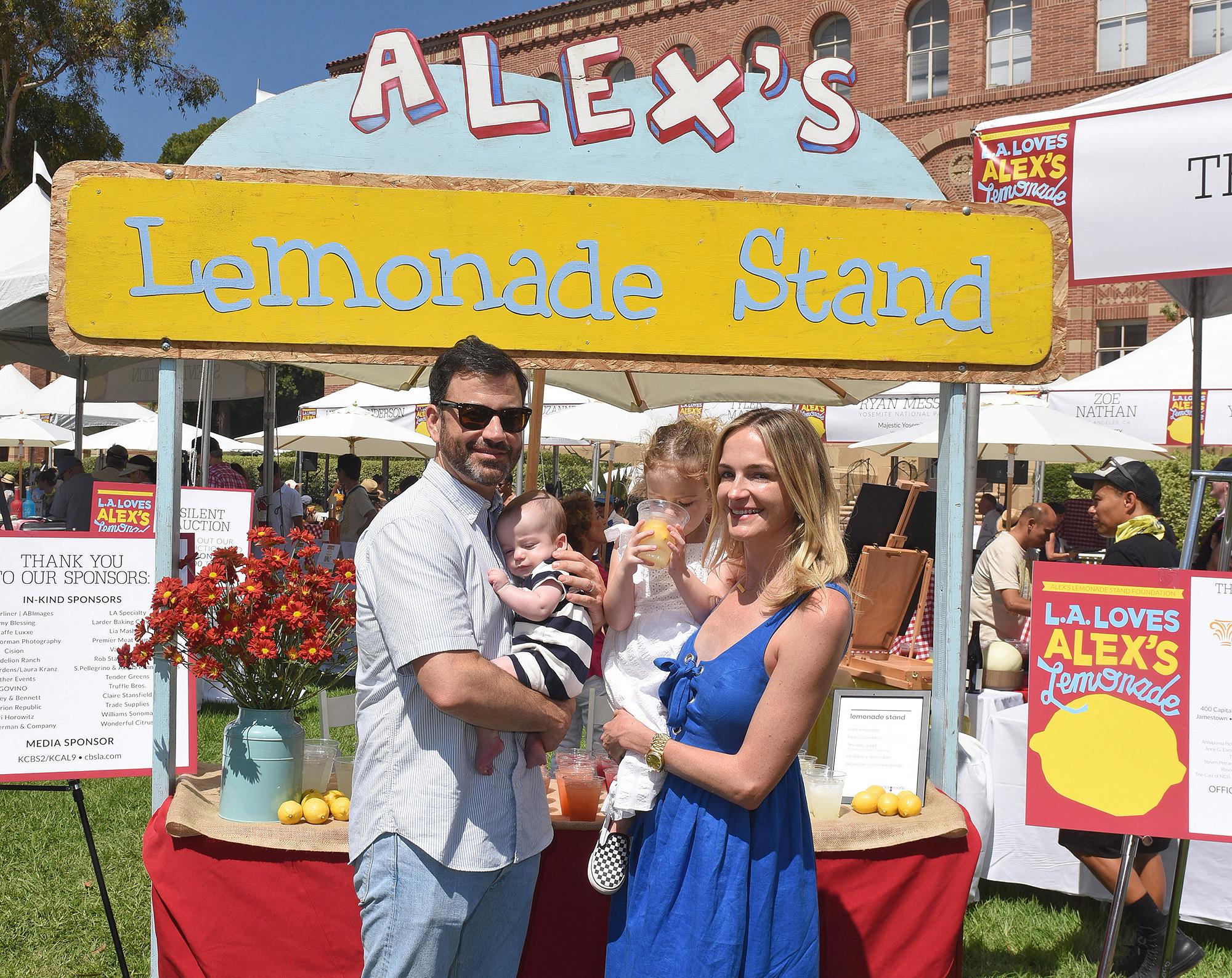 Jimmy Kimmel, Molly McNearney, Jane Kimmel, William Kimmel, L.A. Loves Alexs Lemonade, Childhood Cancer
