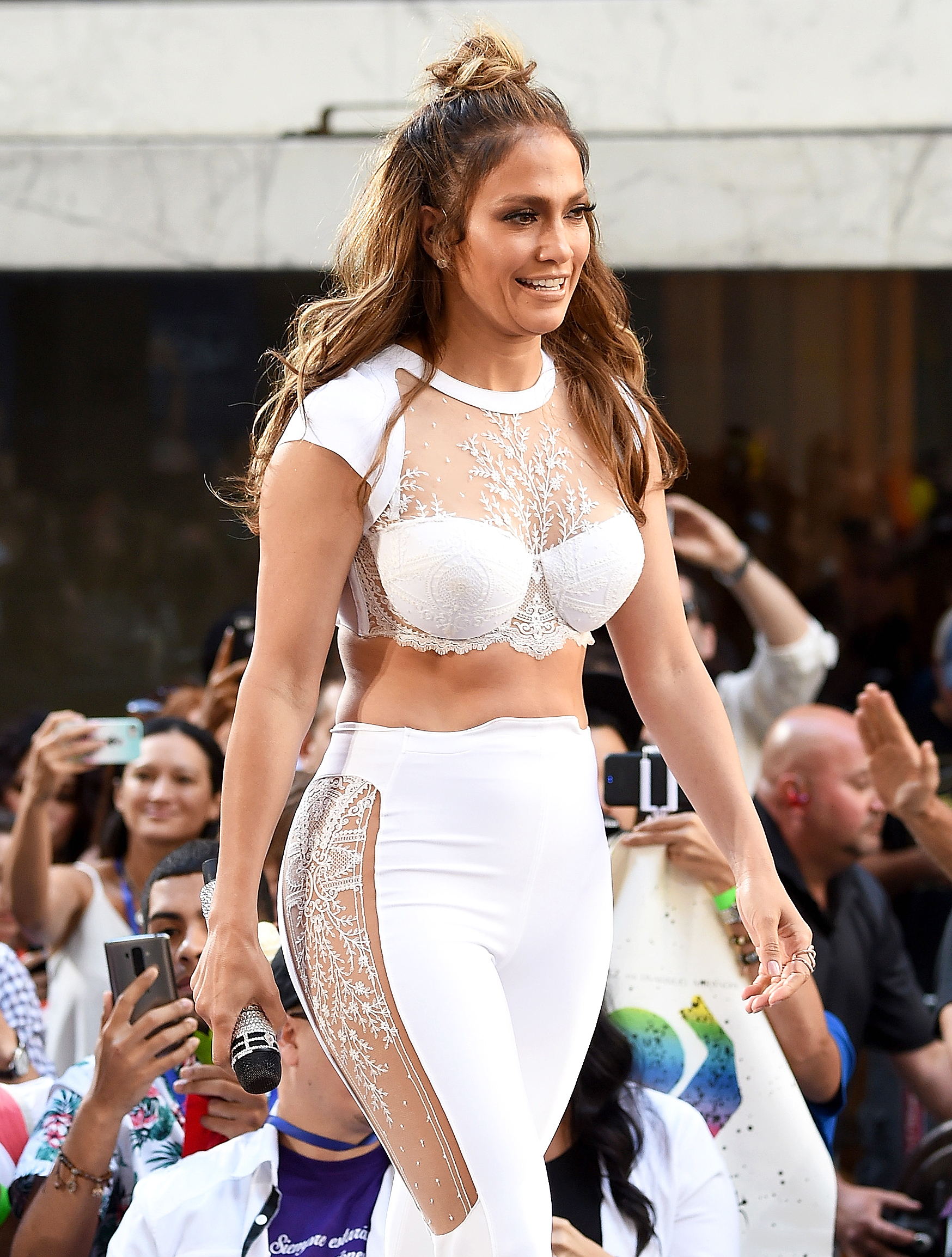 d88c400cbb20b Jennifer Lopez Wore Sexy Lace Bra to Perform Orlando Song on  Today