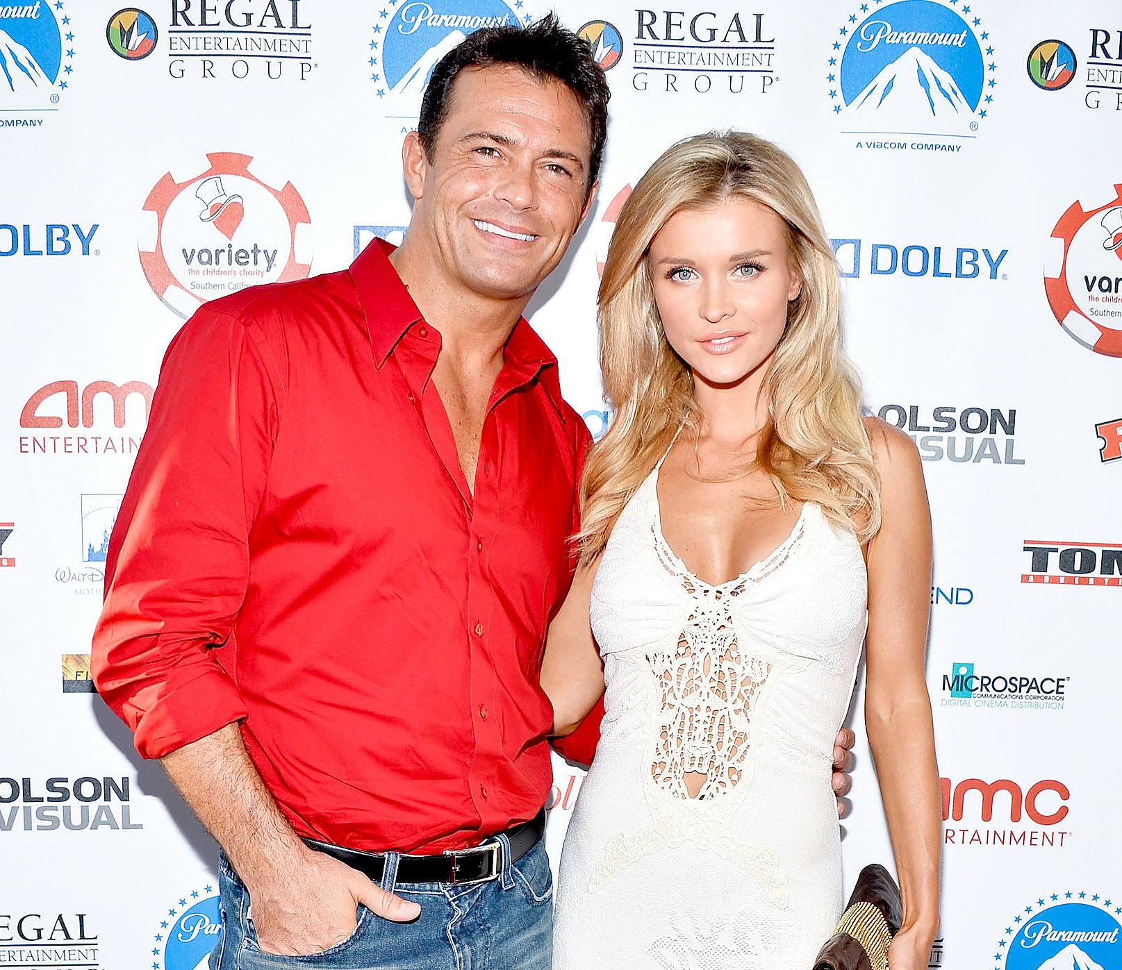 Romain Zago and Joanna Krupa arrive at The Children's Charity Of Southern California Texas Hold 'Em Poker Tournament hosted by Variety at Paramount Studios on July 17, 2013 in Los Angeles, California.