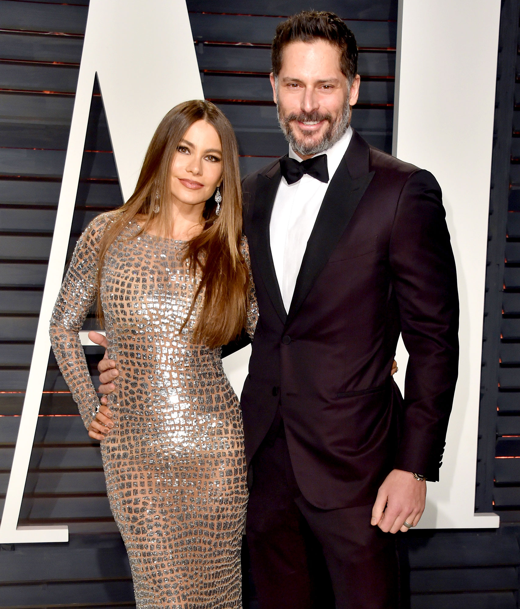 Sofia Vergara and Joe Manganiello attend the 2017 Vanity Fair Oscar Party hosted by Graydon Carter at Wallis Annenberg Center for the Performing Arts on February 26, 2017 in Beverly Hills, California.