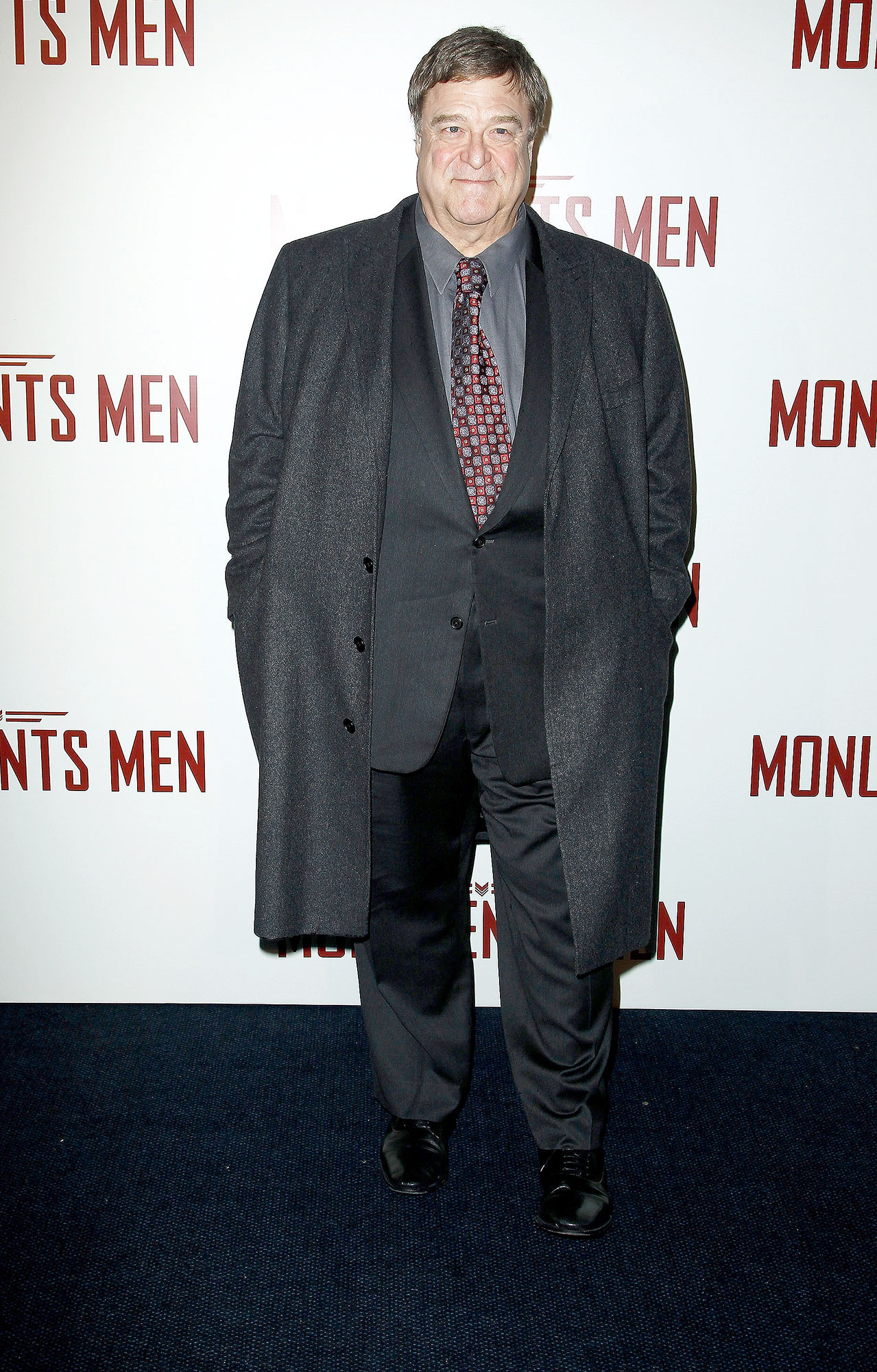 John Goodman attends 'Monuments Men' Paris premiere at Cinema UGC Normandie on February 12, 2014 in Paris, France. (