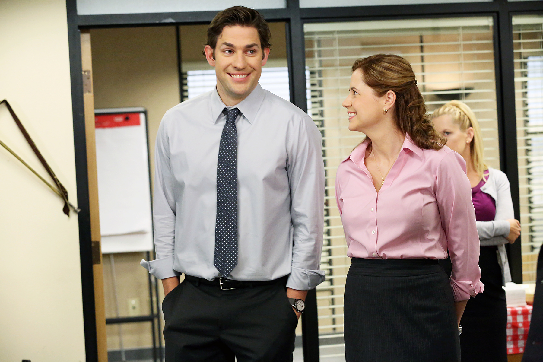 John Krasinski and Jenna Fischer on 'The Office'