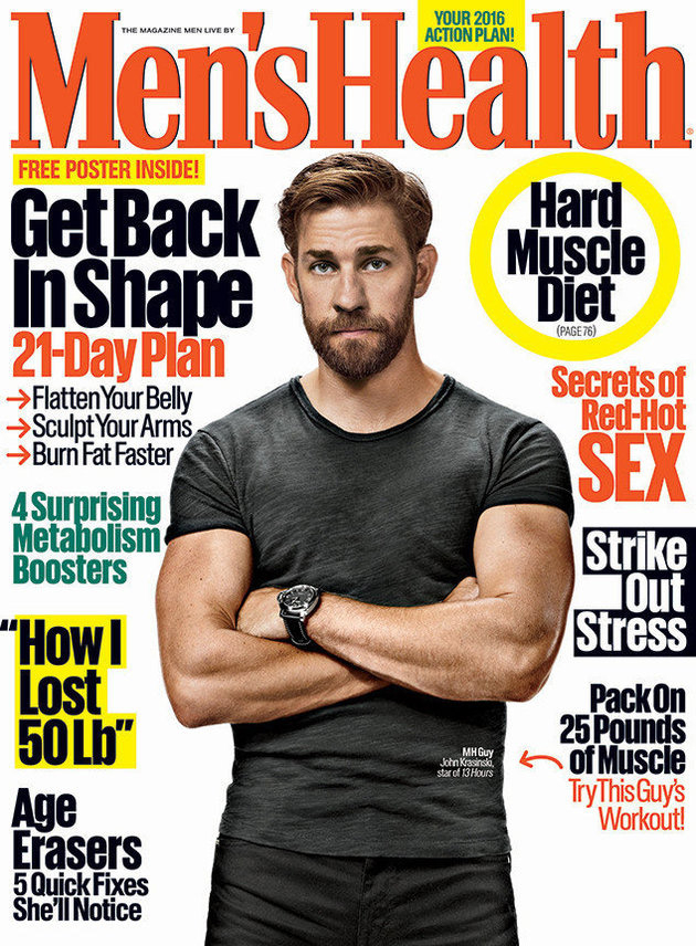 John Krasinski Shows Off Newly Buff Body Bulging Biceps