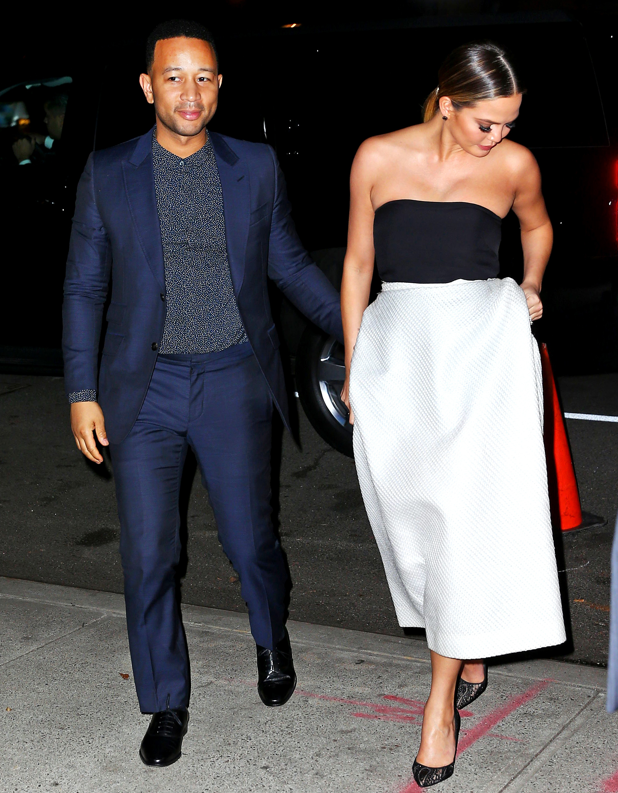 John Legend takes Chrissy Teigen out for her 30th birthday/Thanksgiving weekend in NYC.