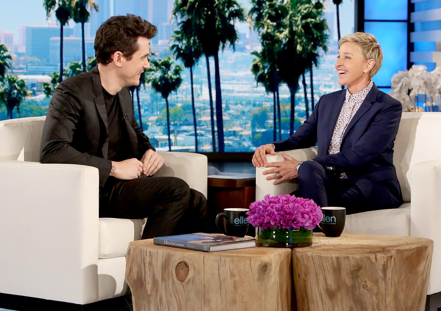 John Mayer and Ellen DeGeneres