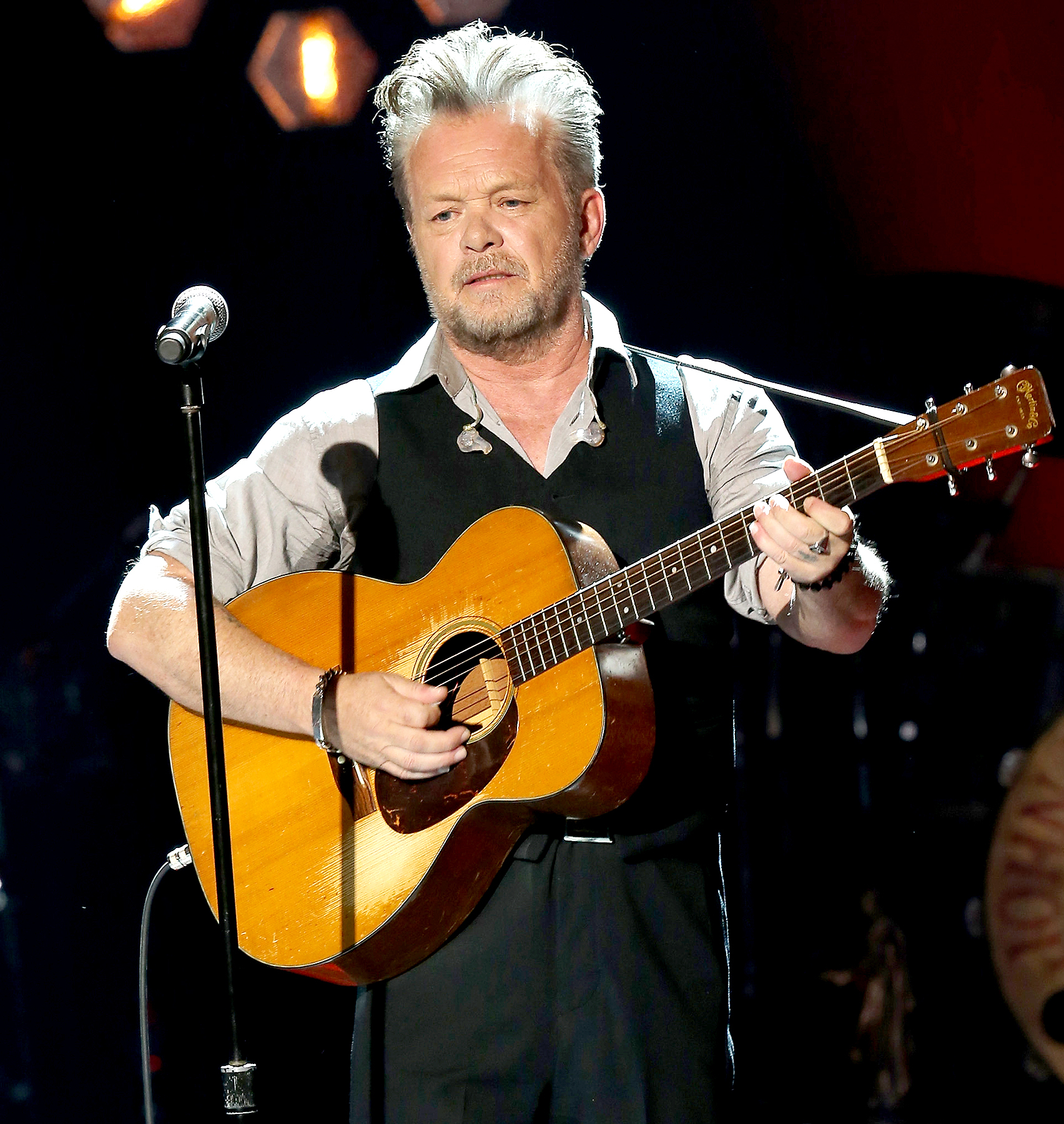 John Mellencamp performs onstage during CMT Crossroads: John Mellencamp and Darius Rucker on February 24, 2017 in Nashville, Tennessee.