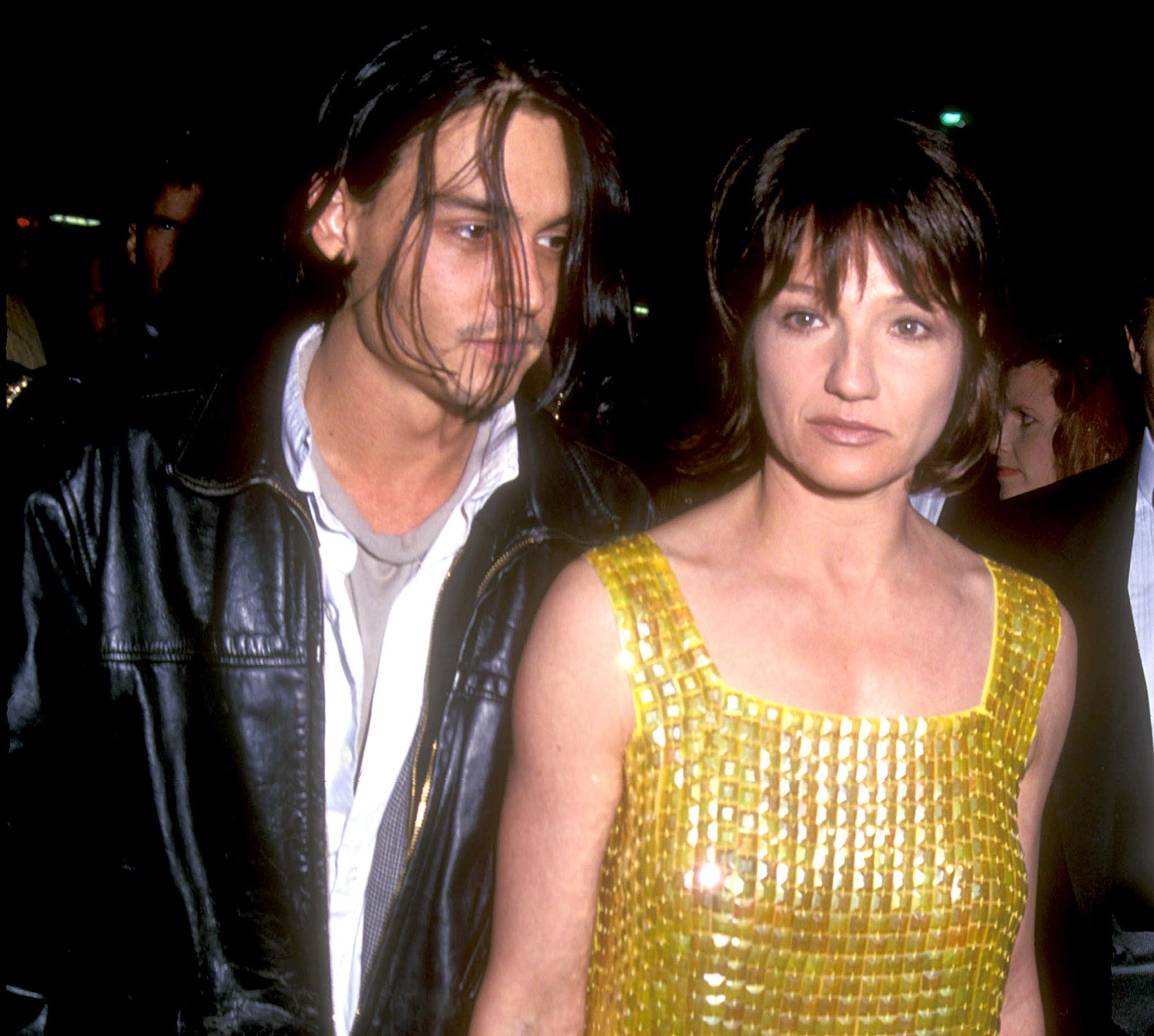 Johnny Depp and Ellen Barkin in 1994.