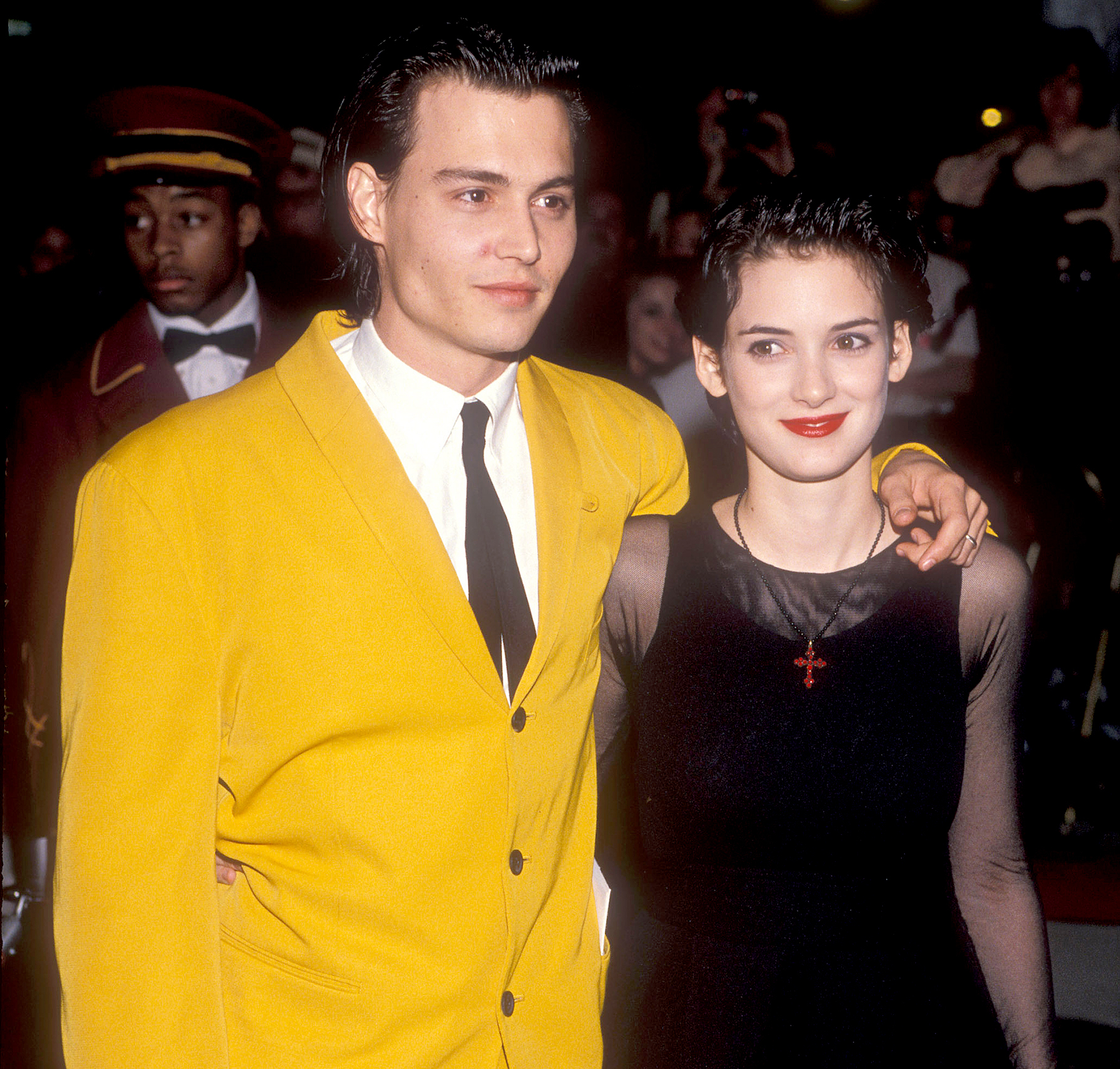 Johnny Depp and Winona Ryder in 1990.
