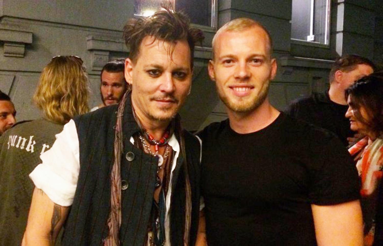 Johnny Depp and Frederik Johansen