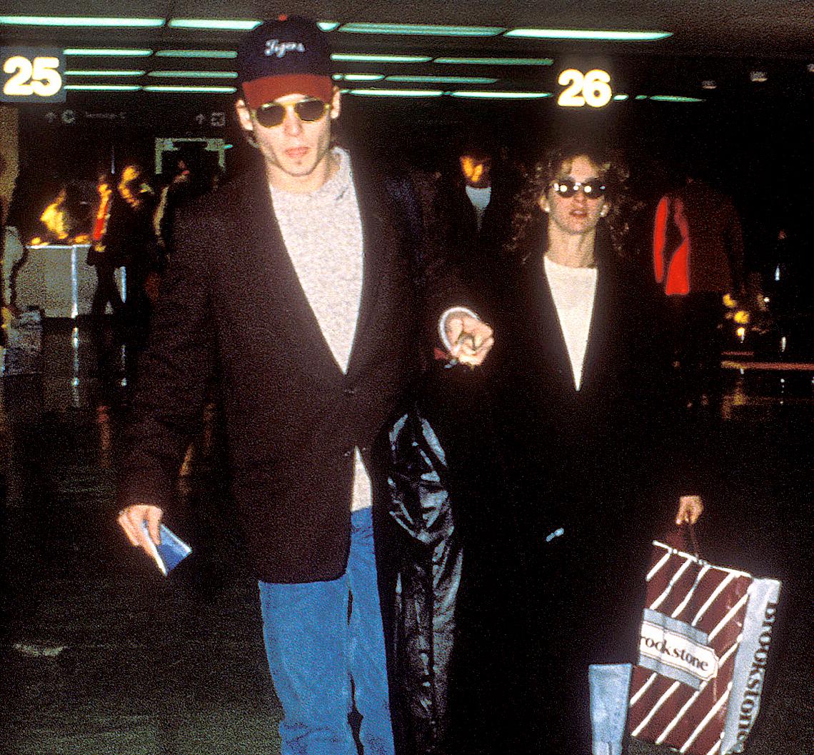 Johnny Depp and Jennifer Grey in 1989.