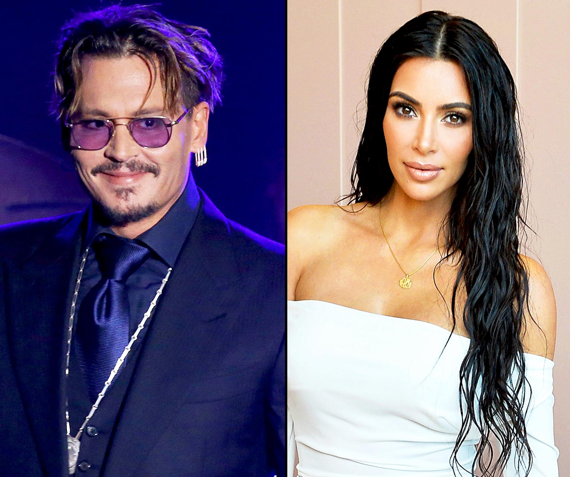 Johnny Depp and Kim Kardashian