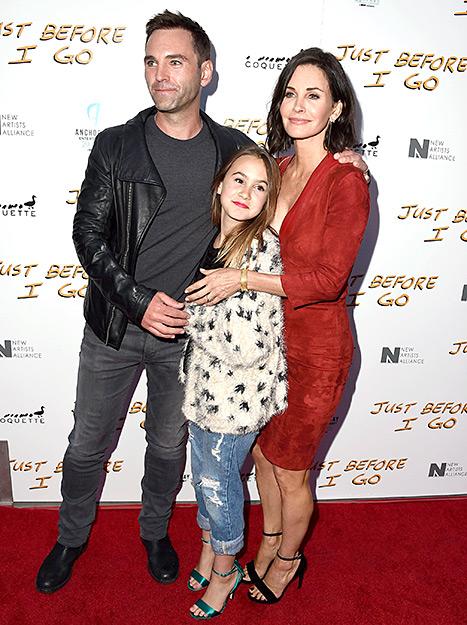 Johnny McDaid, Courteney Cox and Coco Arquette